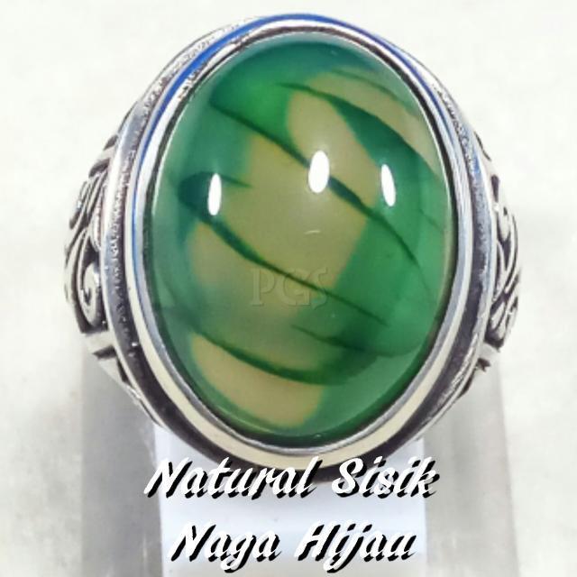 Diskon Promo Perhiasan Aksesoris CINCIN BATU AKIK NATURAL LUMUT SISIK NAGA HIJAU MEMPESONA GRADE AAA Murah