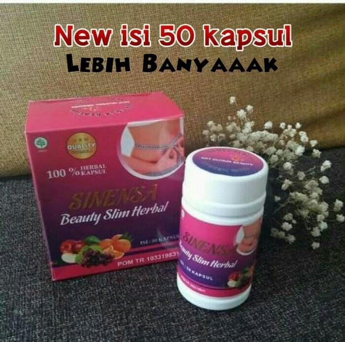 Sinensa Beauty Slim Herbal 100% ASLI Original BPOM - Obat Pelangsing Alami BPOM isi 50