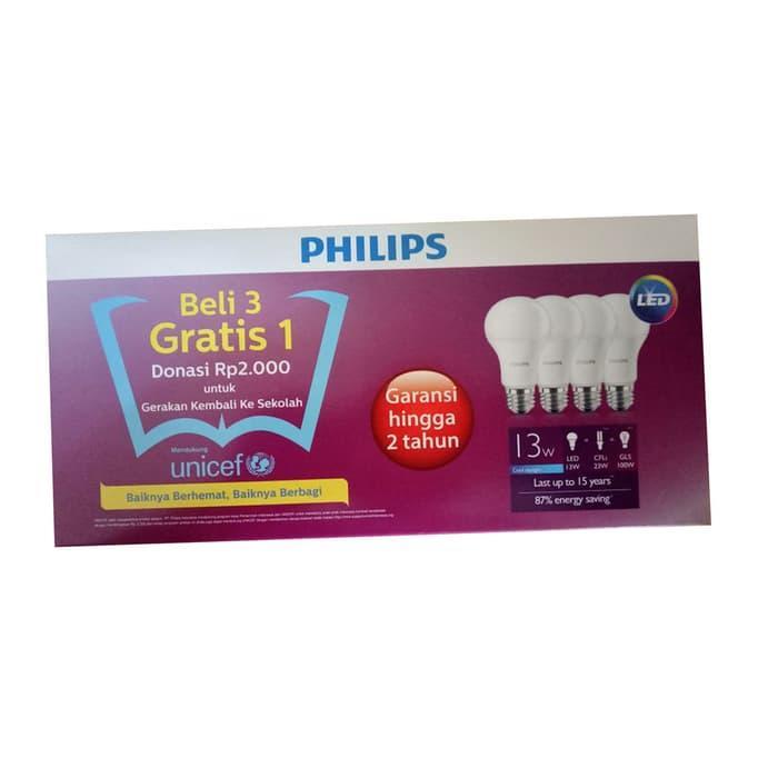 Hemat 10%!! Lampu Led 13 Watt Paket Philips - ready stock