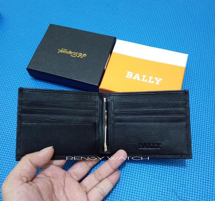 DOMPET TIPIS PRIA SIMPLE KULIT MONEY CLIP BALLY /PRADA BA57-018 IMPORT