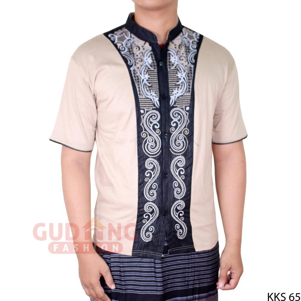 Gudang Fashion - Kemeja Muslim Baju Koko Pendek / Men Muslimin Shirts Short Sleeved - Aneka Warna