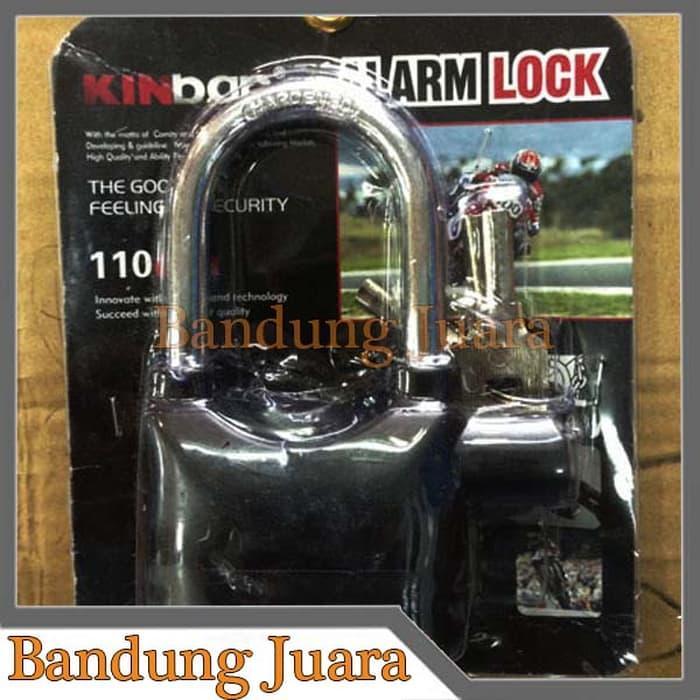 Gembok Alarm Motor Kinbar Harga Murah Bandung /Aksesoris Motor