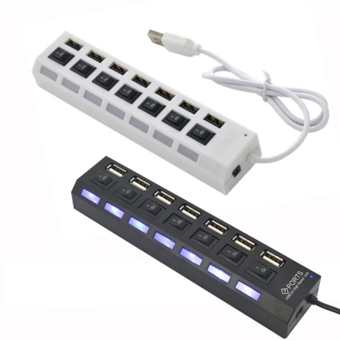 (FD051) HI - Speed USB 2.0 High Speed HUB 7 Port On/Off