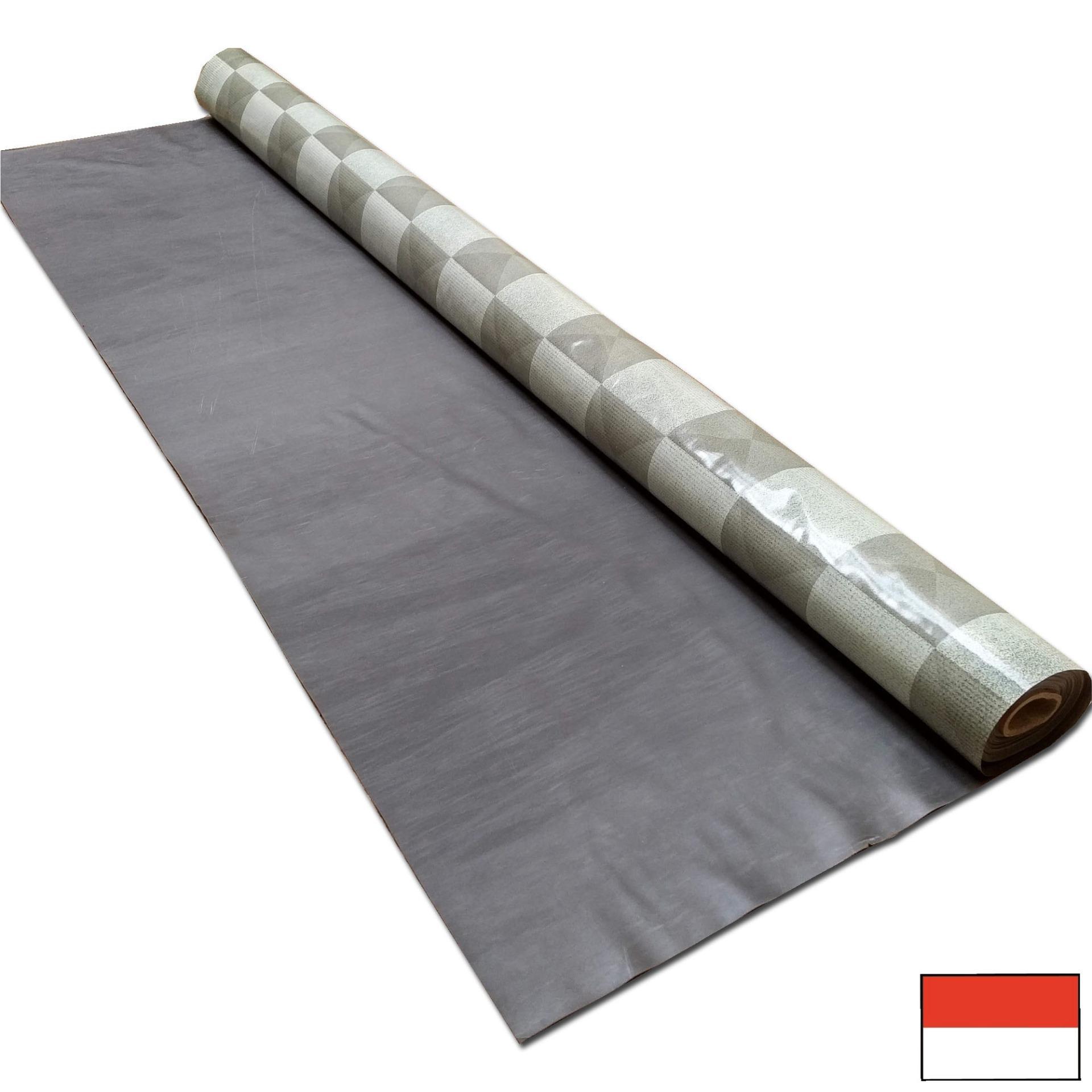 Tren-D-home - Karpet Plastik Meteran  / Vinyl Alas Lantai - Meja / Taplak Meja Makan / Meja Ruang Tamu Plastik Meteran Abu Kotak 19604 - NMs