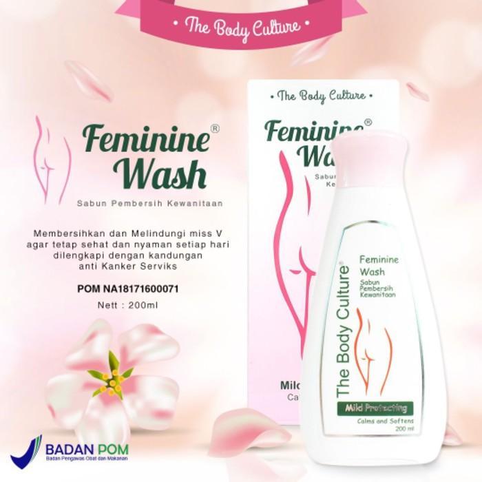 Kidstafun - Feminine Wash The Body Culture sabun daerah kewanitaan azzh - Multicolor