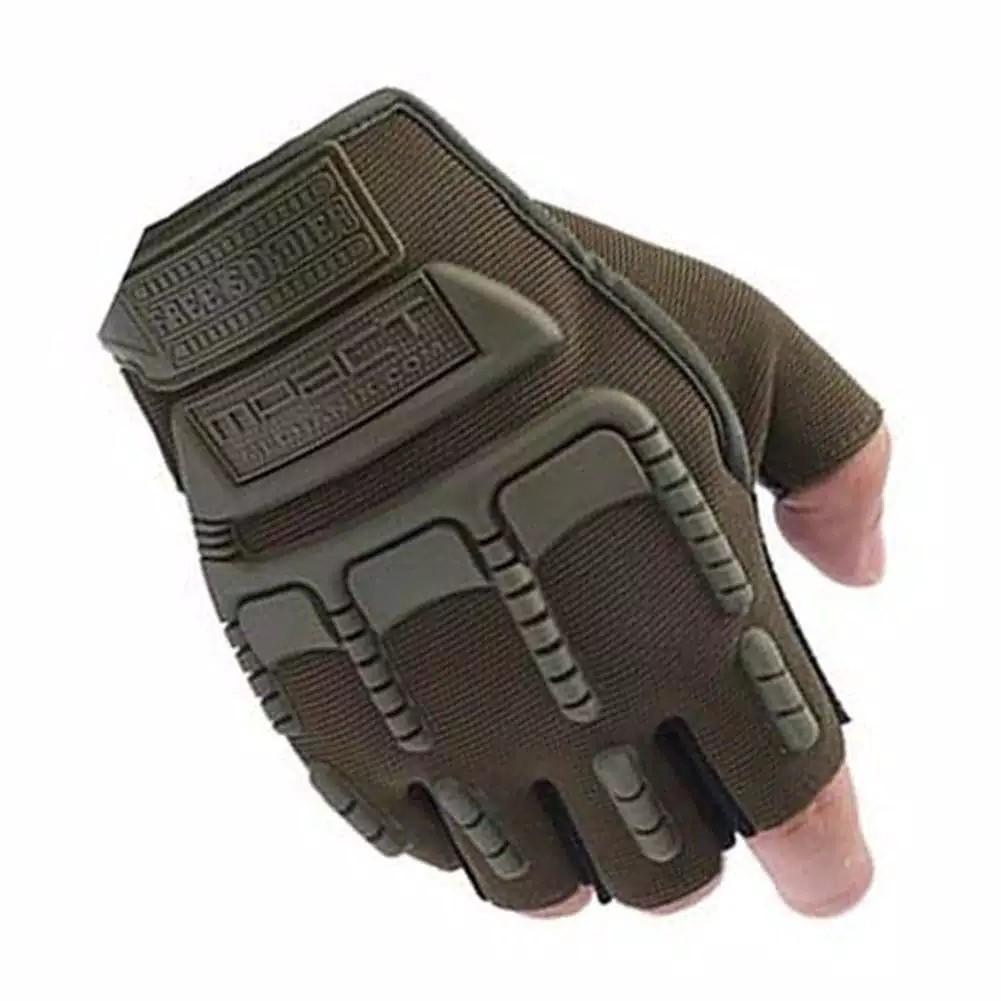 Jual Sarung Tangan Pria Kulit Asli Garut Half Protection Brown Best Seller Tactical Tad Golves