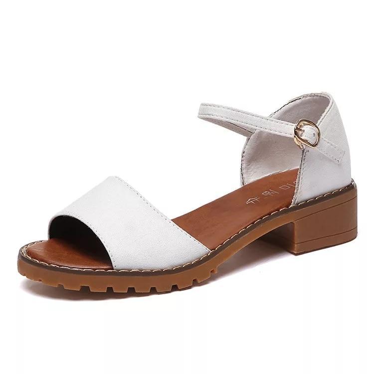 Ginshashop - Sepatu Wanita Flats Gesper Suede Gelang GFS - 840