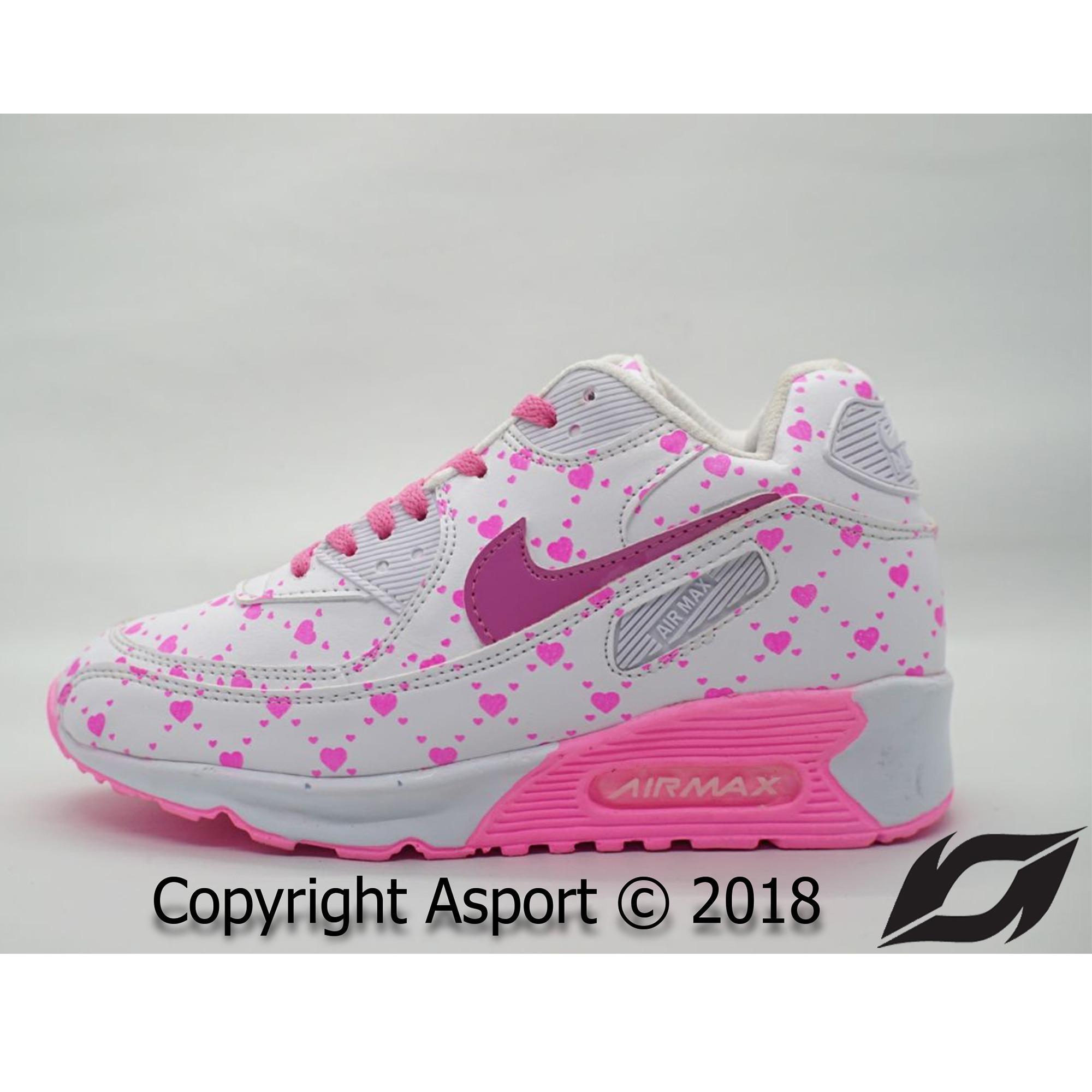 Sepatu Murah Nike Airmax 90 Kualitas Premium Warna Putih Pink Love