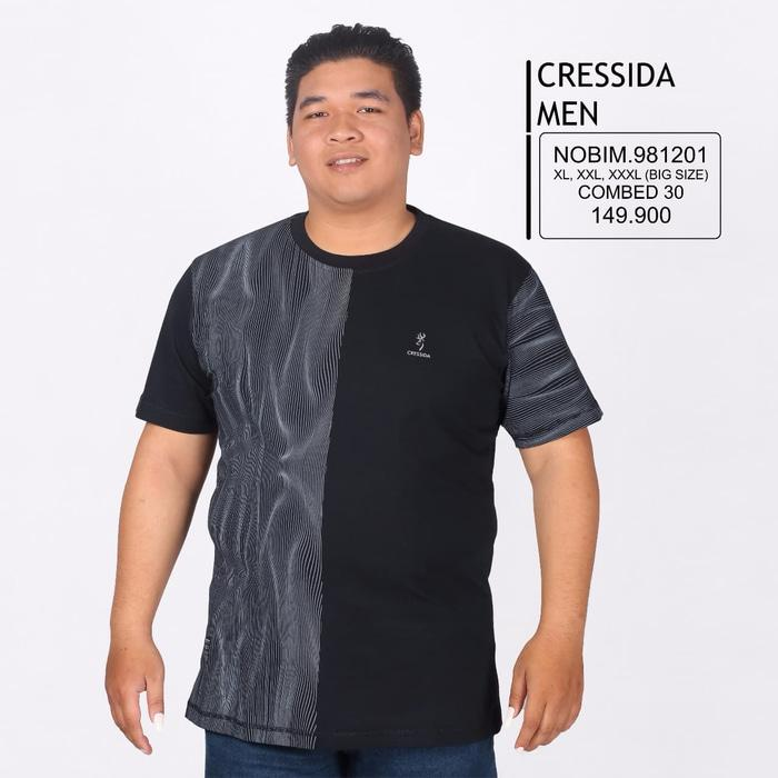 Ready!!! Kaos Cressida Men Big Size 10 - ready stock