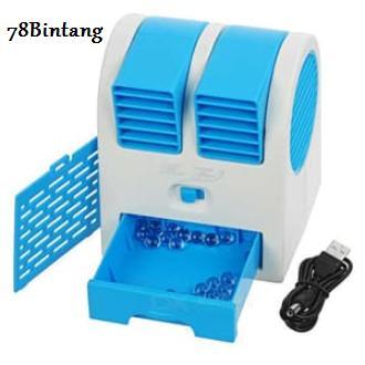 78Bintang AC Mini - Kipas Angin AC - Mini Fan Air Conditioning - AC Duduk Double Mini Fan - AC Portable Double Blower Kipas Mini USB