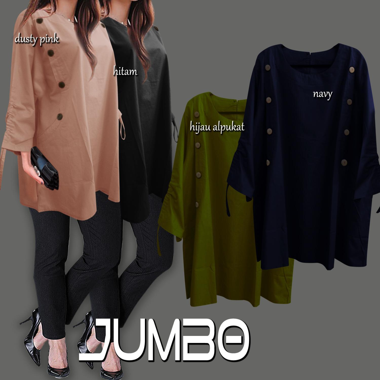 F G Baju Atasan Wanita   Blouse Jumbo   Tunik Jumbo - Variasi Batok ... 90a56f2d60