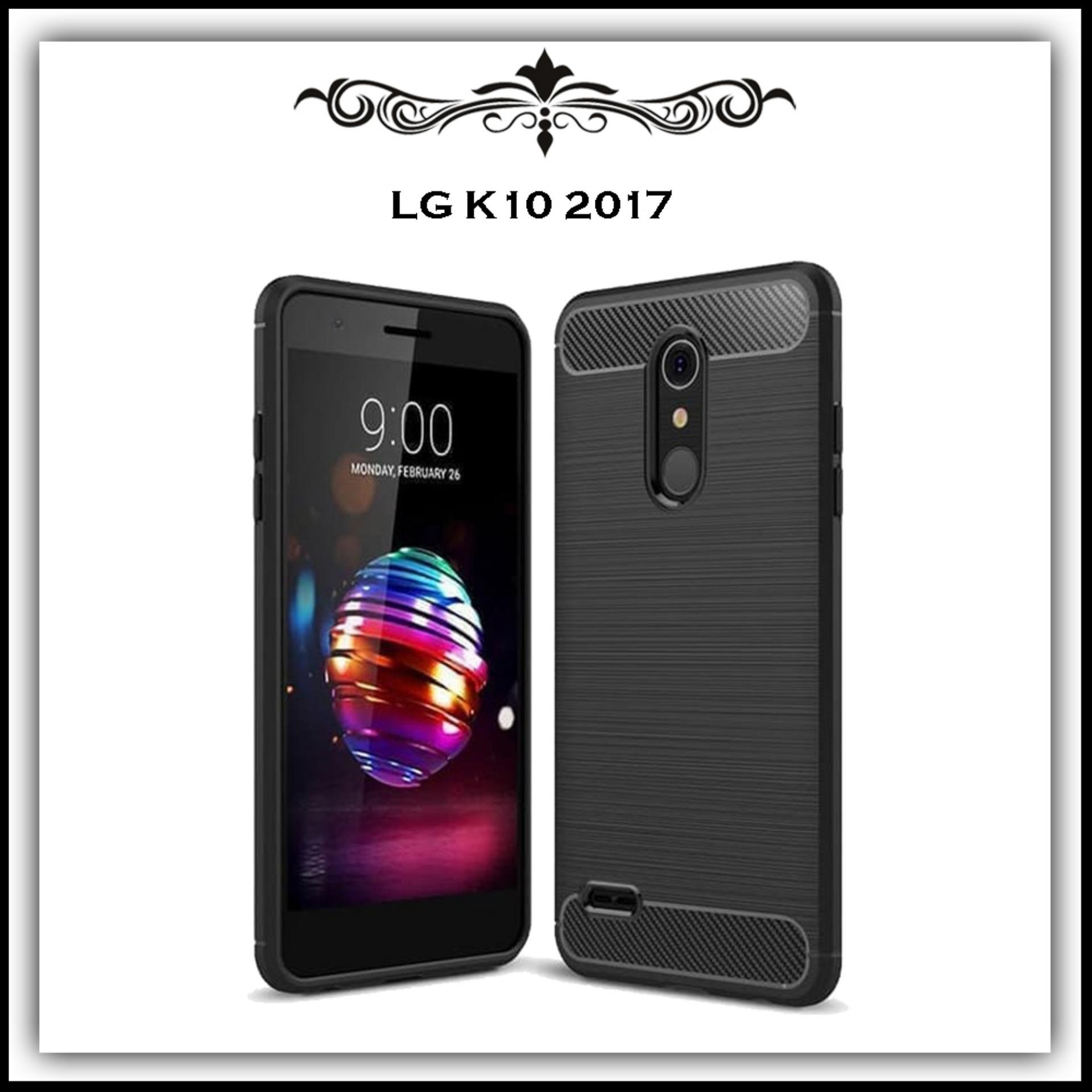 Mushroom Case Ipaky Carbon Fiber Shockproof Hybrid Elegant Case for LG K10 2017