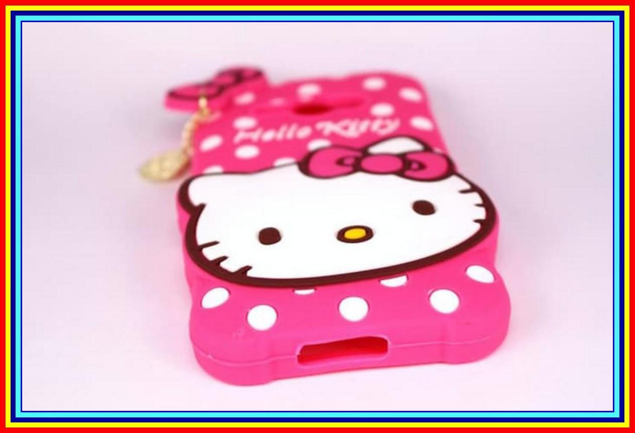 Case 3D Hello Kitty Samsung J1 Ace J110 2016 Rubber Softcase Boneka 4D - Pink