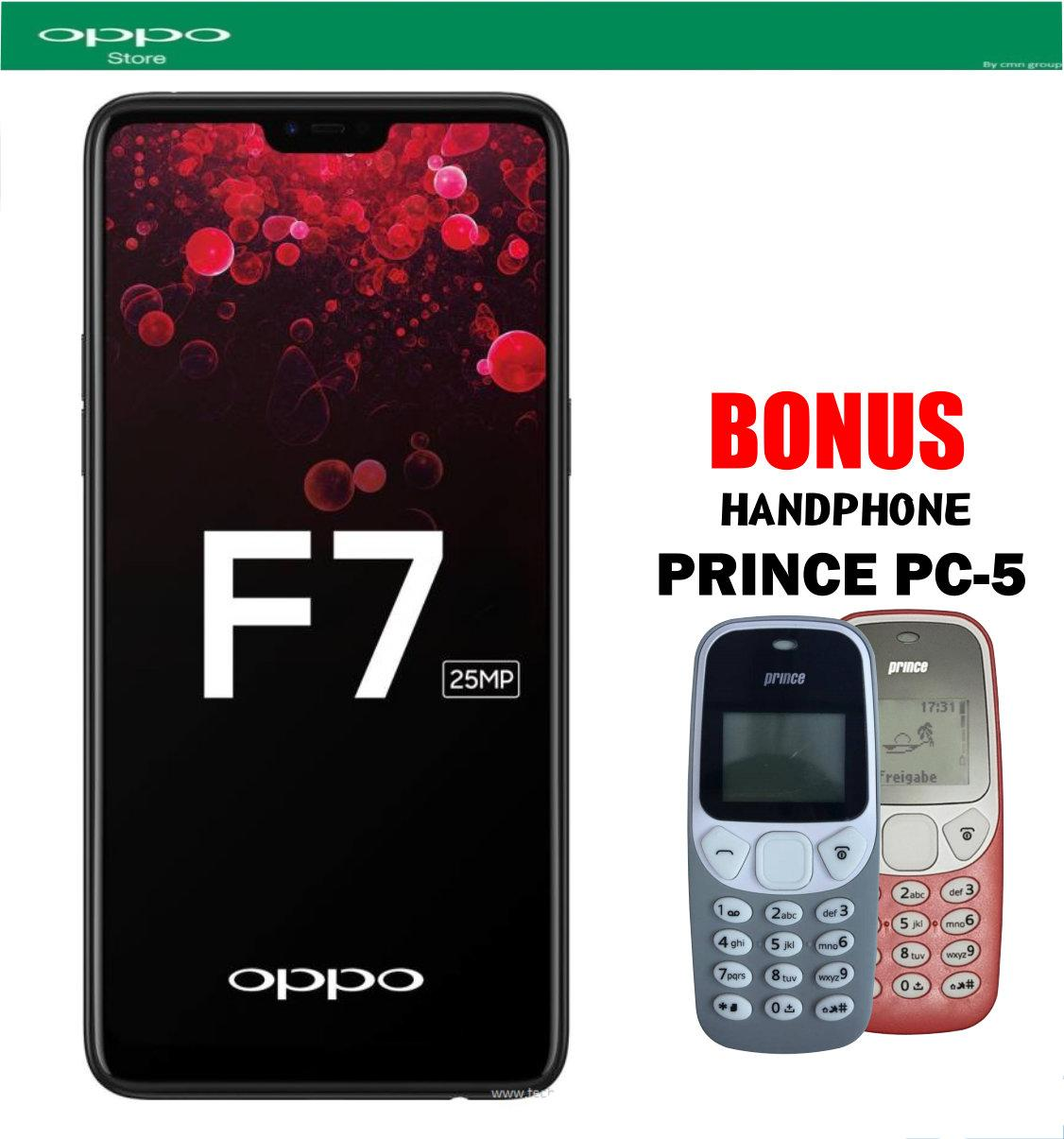 OPPO F7 4/64 - Black Plus Hanphone Prince Pc-5