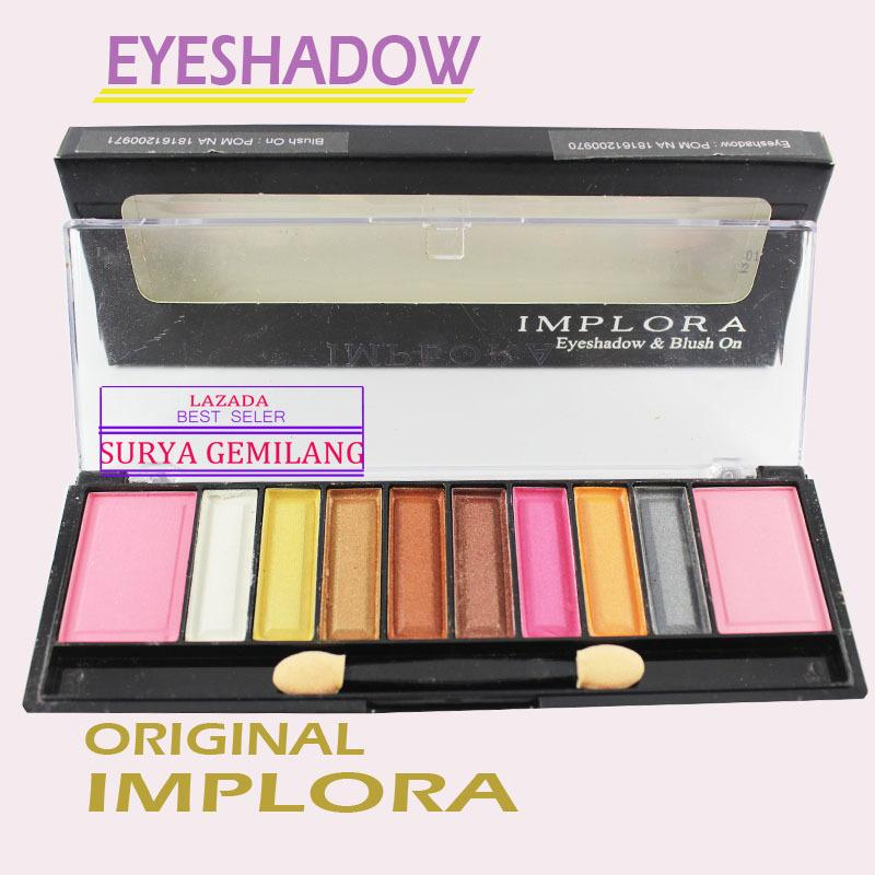 Implora 7602 Eyeshadow and Blush On Make Up Palette 10 Warna