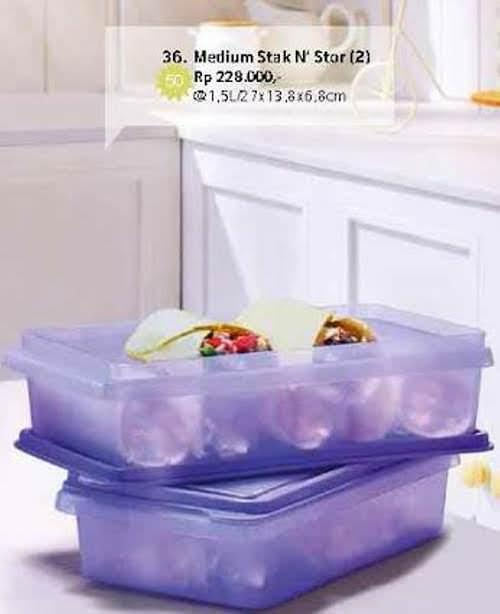 Medium Stak n Stor 1 pc Toples Tupperware