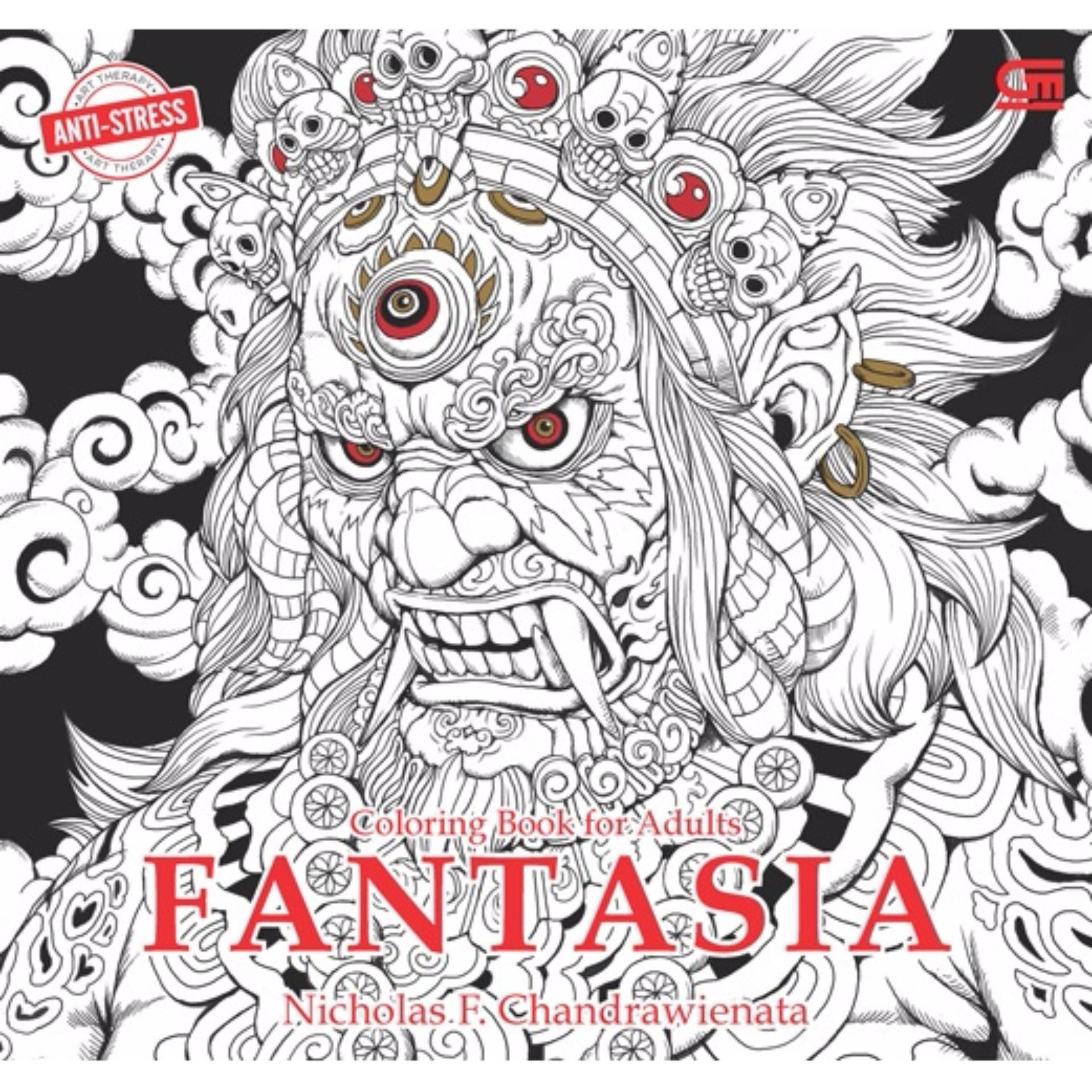 Anti-Stress: Coloring Book For Adults - Fantasia