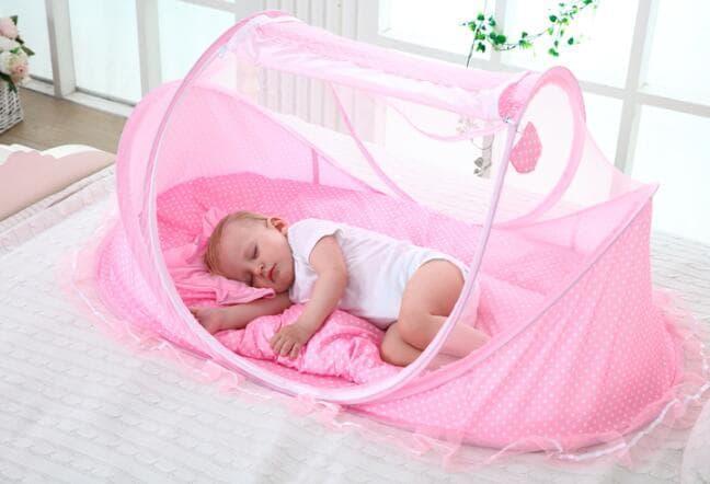 KL09 KELAMBU BAYI musik series 3in1 dengan kasur dan bantal / Aneka Kelambu Bayi / Tempat Tidur Balita Murah Terbaru