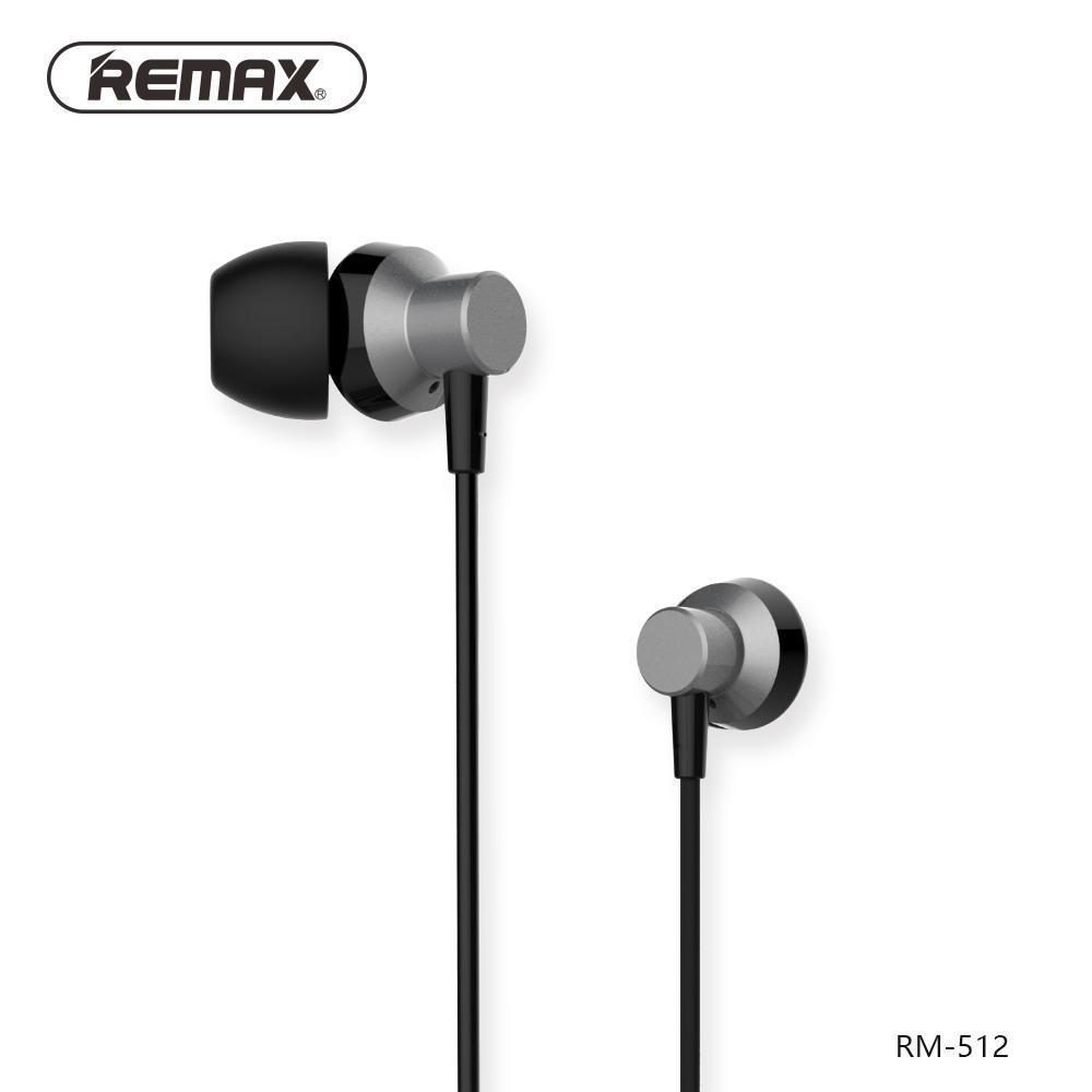 REMAX Metal Wired Music Headset / Earphone RM-512 untuk Samsung S8, Xiaomi 4x, Mi 8, Note 8, Iphone X, Iphone 8, Oppo F5, Vivo V9