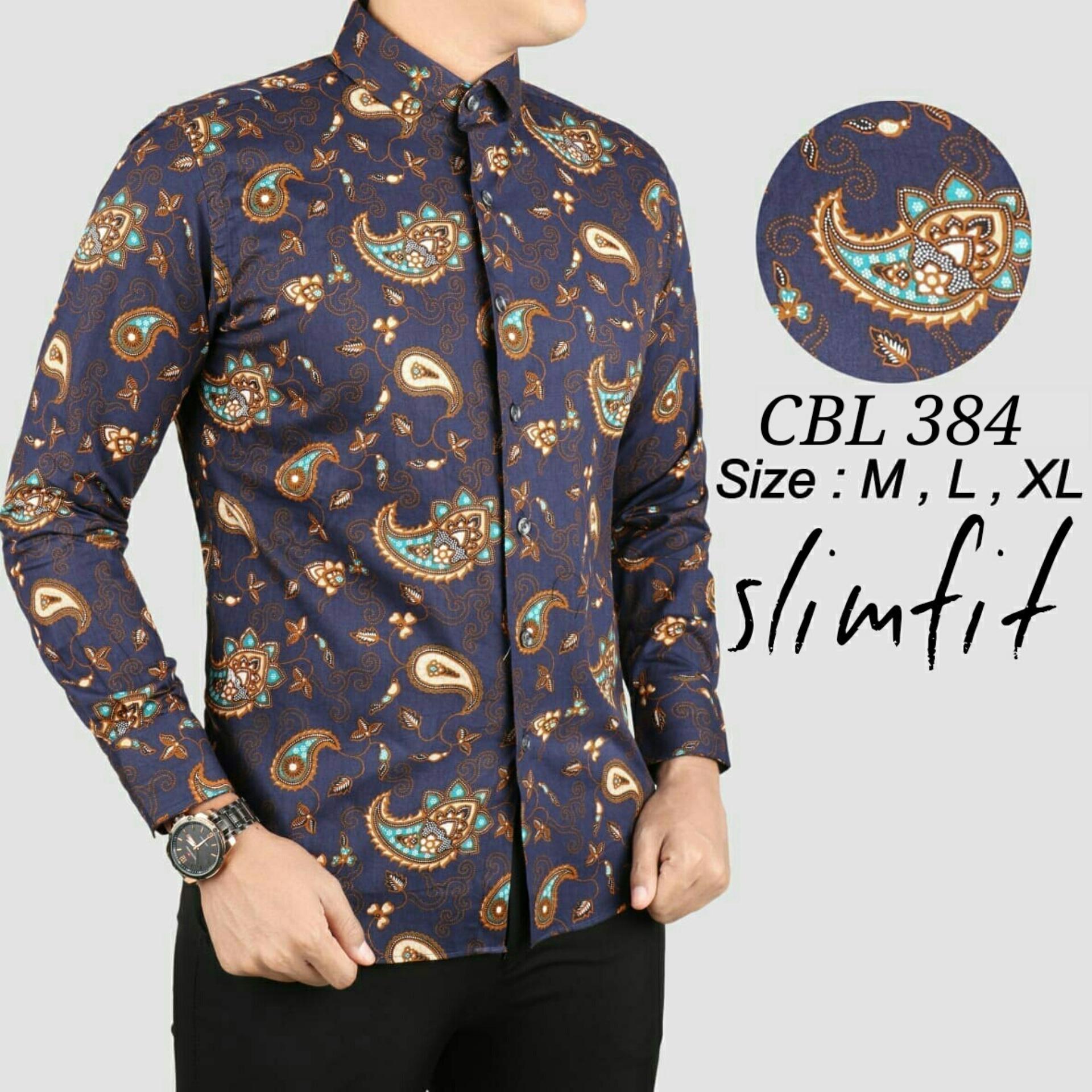 Batik Jawa Barat Terlaris Produk Ukm Bumn Kain Eksklusif Lasem Manuk D 574 Pria Baju Kemeja Slim Fit Lengan Panjang Keren