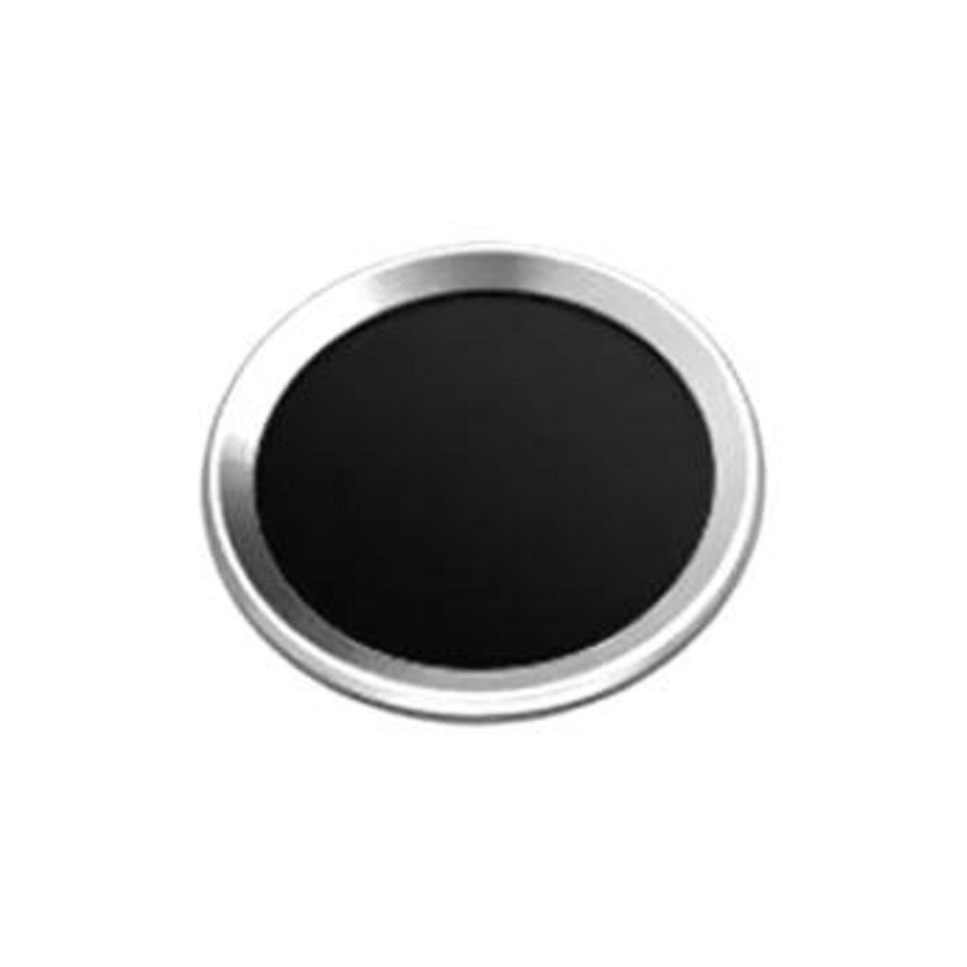 Bendoel Metal Aluminium Touch ID Home Button Sticker for Apple iPhone iPad iPod Mini Air 1 / 2 / 3 / 4 / 5 / 6 / 7 / 8 / + Plus - Hitam List Silver