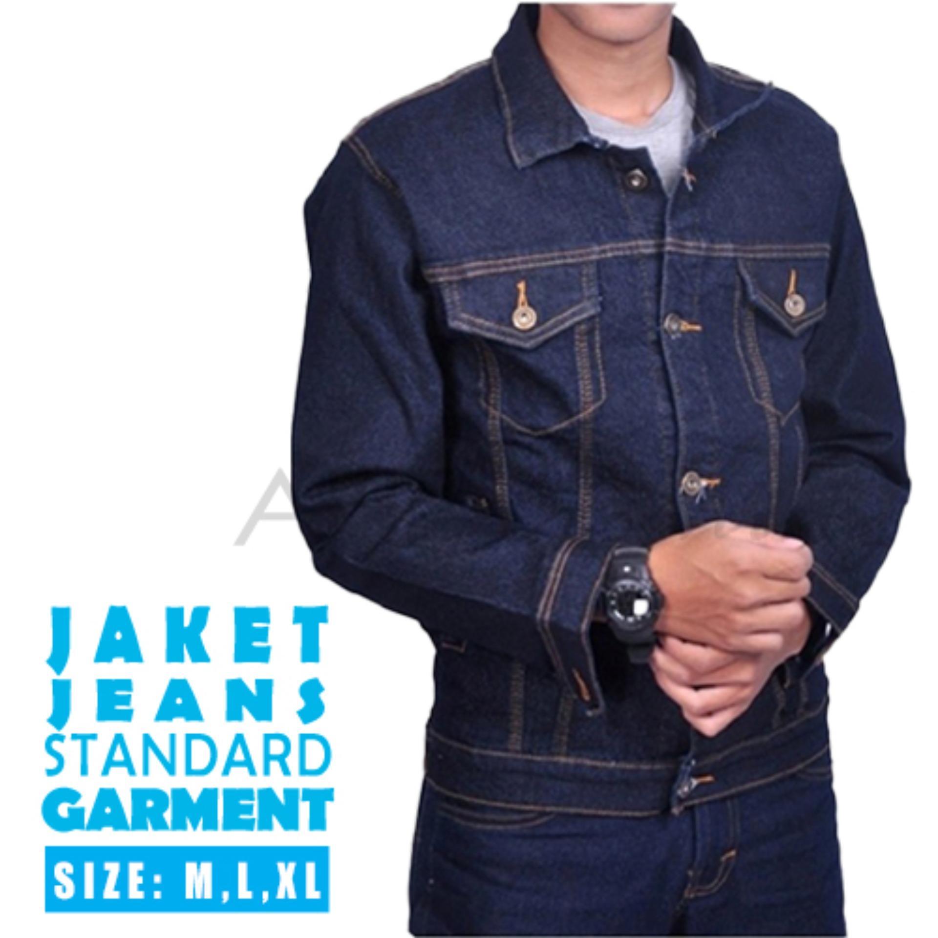 AHF Jaket Jeans Denim Pria  - Biru Tua