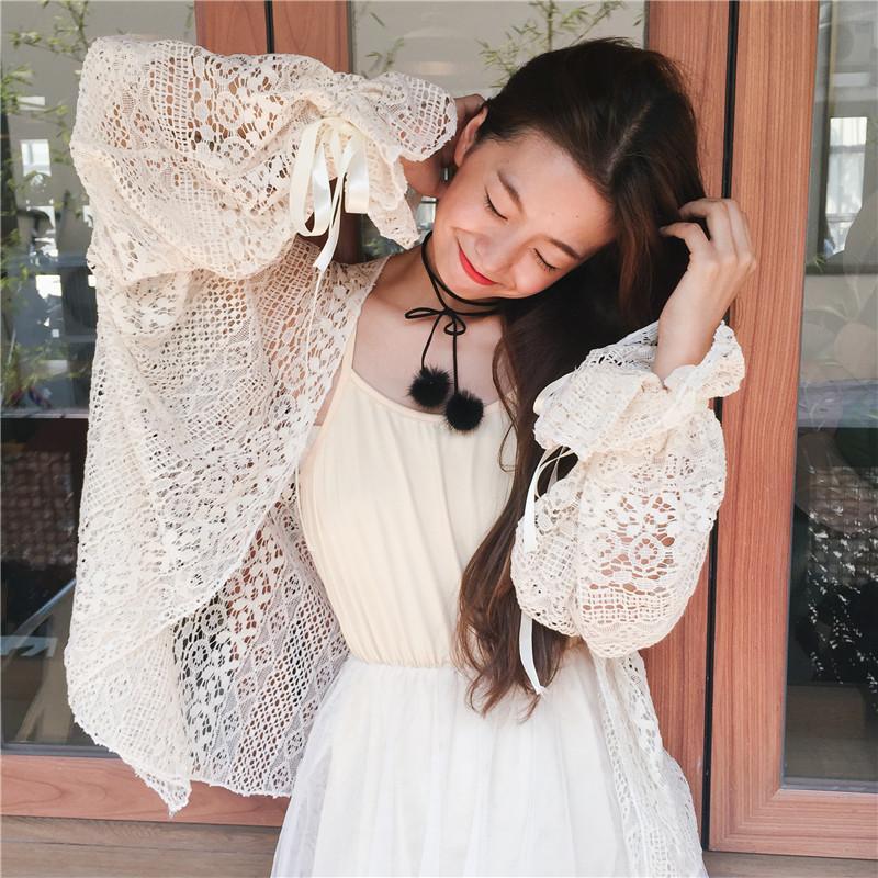 Busana Musim semi model baru baju wanita Gaya Korea manis Sederhana dan Elegan Lengan model lampion