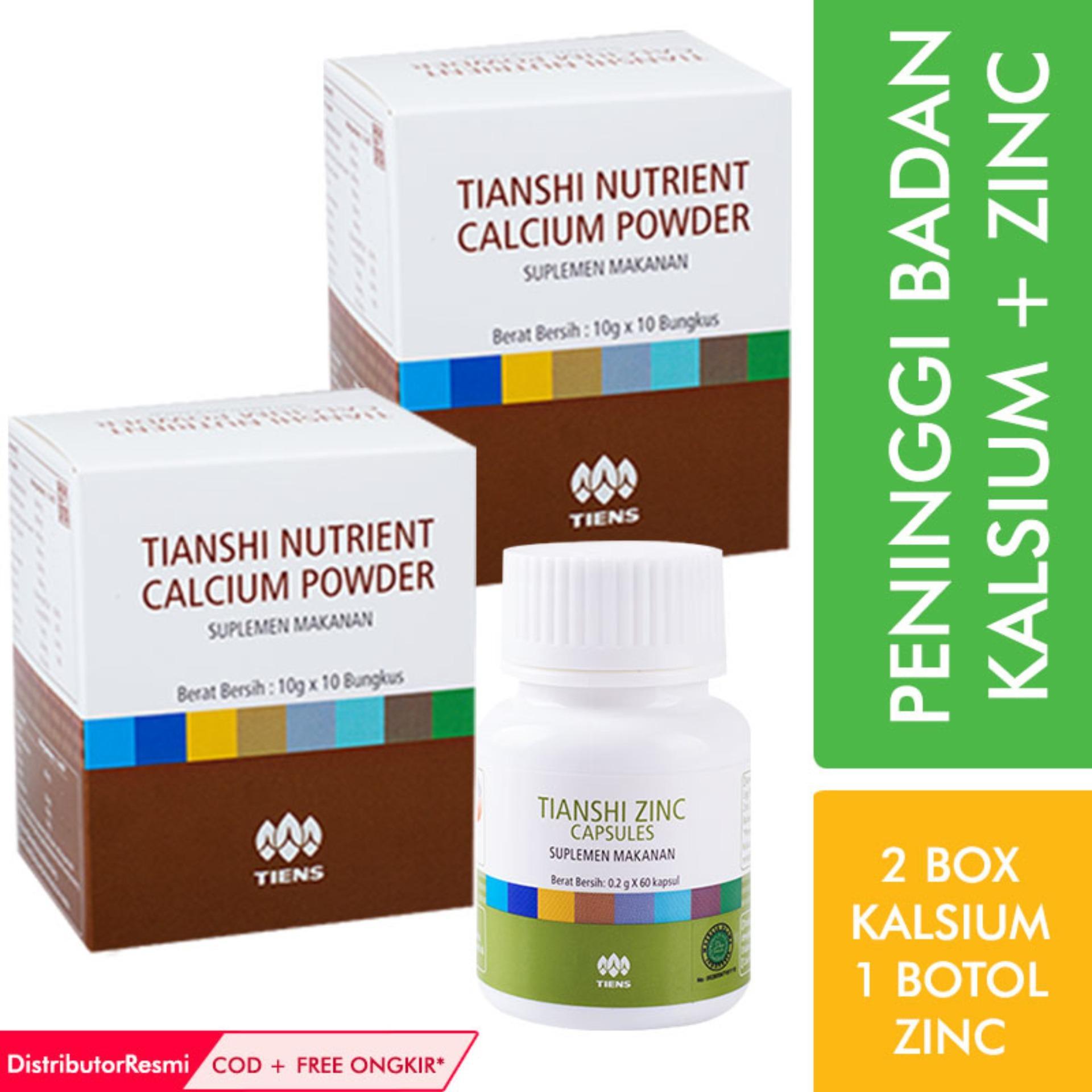 Tiens Paket Peninggi Badan 2 1 Box Nutrient Calcium Powder Nhcp Tianshi Silver Zinc Kalsium Dewasa Herbal Ab1 Promo Ori Susu Source Diskon