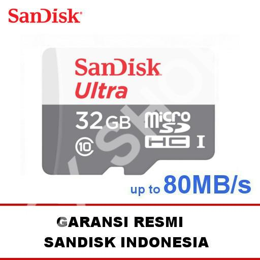 SanDisk Ultra Microsd 32GB 80MB/s - No Adapter