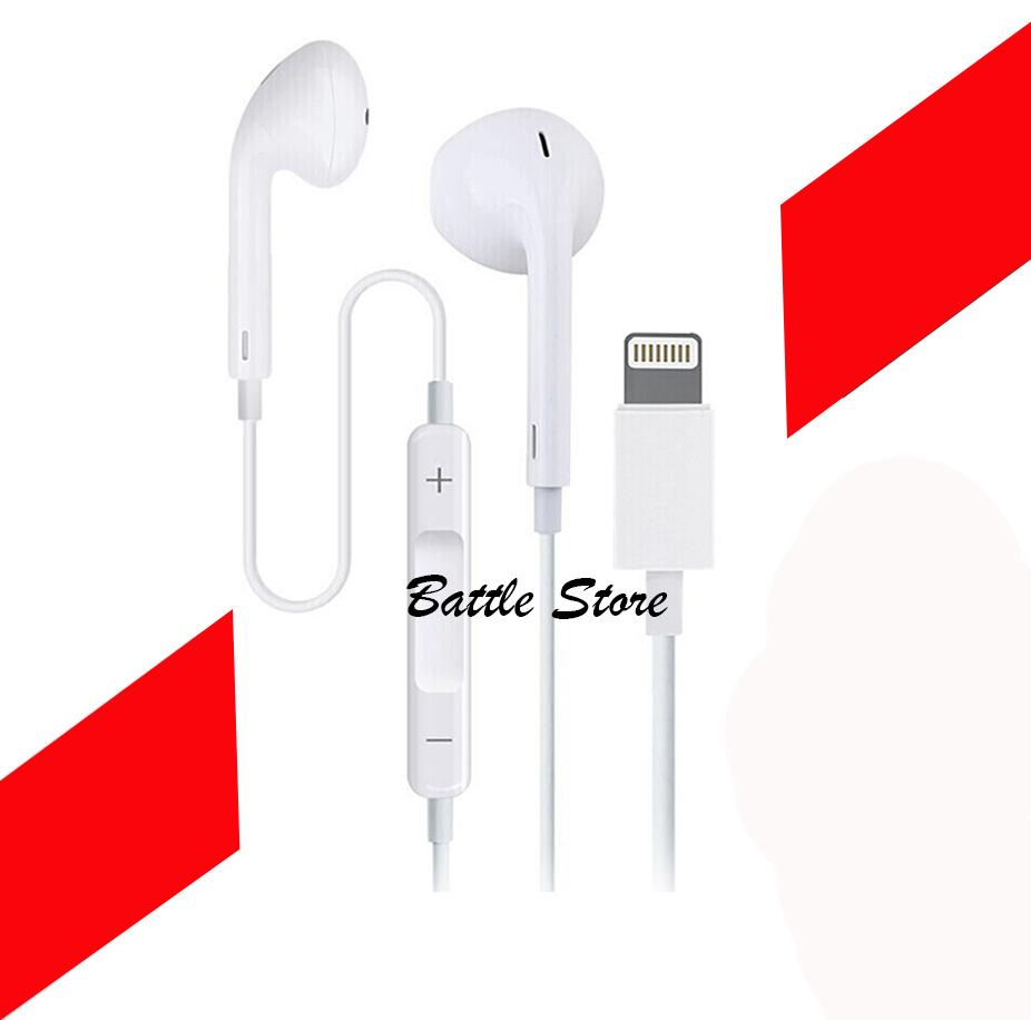 Apple Earpods Lighting Connector Wired In-ear Earphone with Microphone for iPhone se/5s/6s/7/8/x