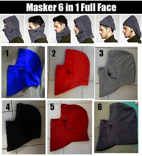 StarStore Masker Buff Balaclava Polar Multifungsi Ninja Kupluk 6 in 1 Full FaceIDR69000. Rp 72.000