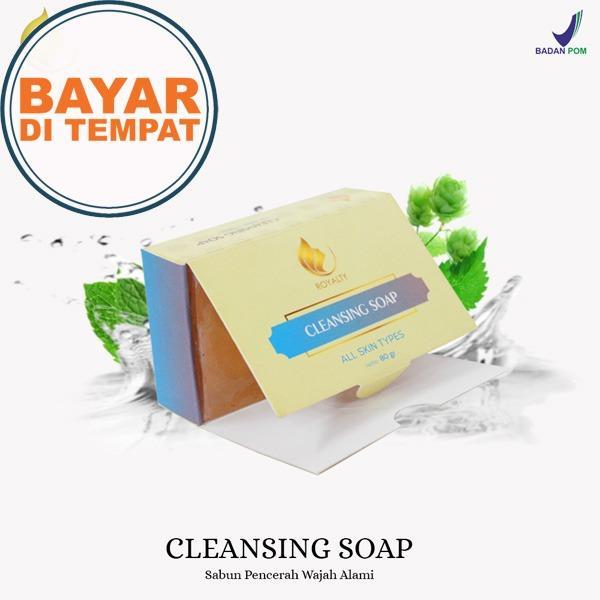 Sabun Pencerah Wajah Alami dan Aman Royalty Cosmetic Soap Cleansing  Pembersih Muka Sabun Untuk Menghilangkan Jerawat 3810706a77