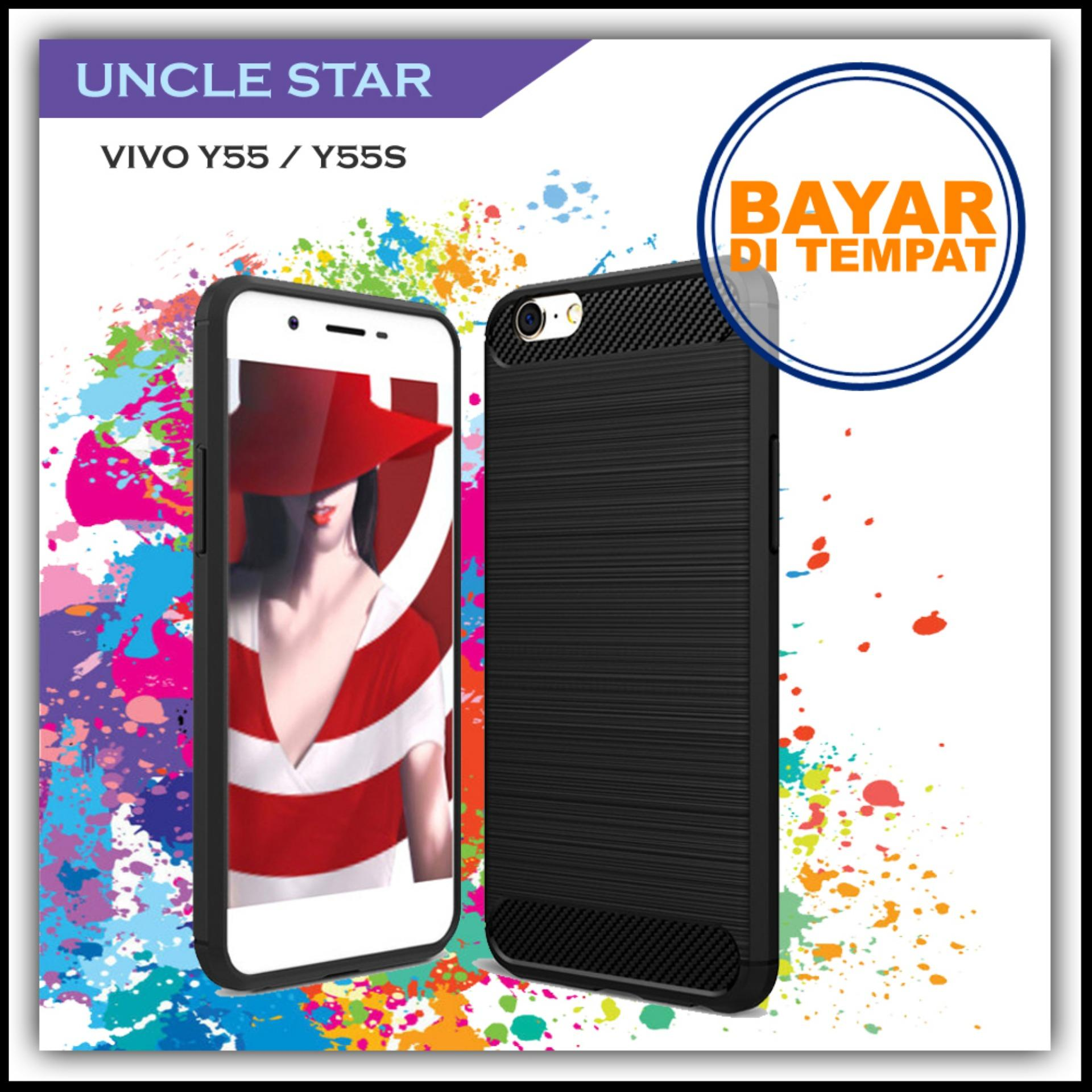 Uncle Star Case Ipaky Carbon Fiber Shockproof Hybrid Elegant Case for Vivo  Y55 Y55s dad34c29e3