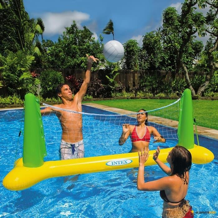 Terbaru!! Intex Volley Ball Game | Bola Volly  Voli Air  Kolam Renang - ready stock