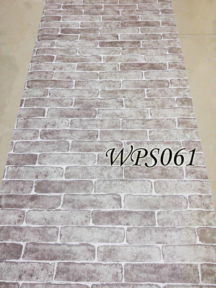 PROMO WALLPAPER STICKER 45CMX5M-WPS061-WHITE BRICK/ BATA PUTIH TERLARIS