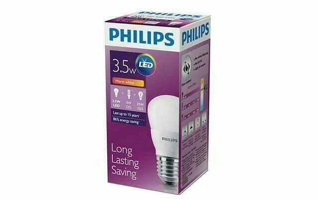 Hemat 10%!! Led Philips 3W Kuning Warm White Lampu Bulb 3 Watt  3 W Hemat Energi - Kuning - ready stock