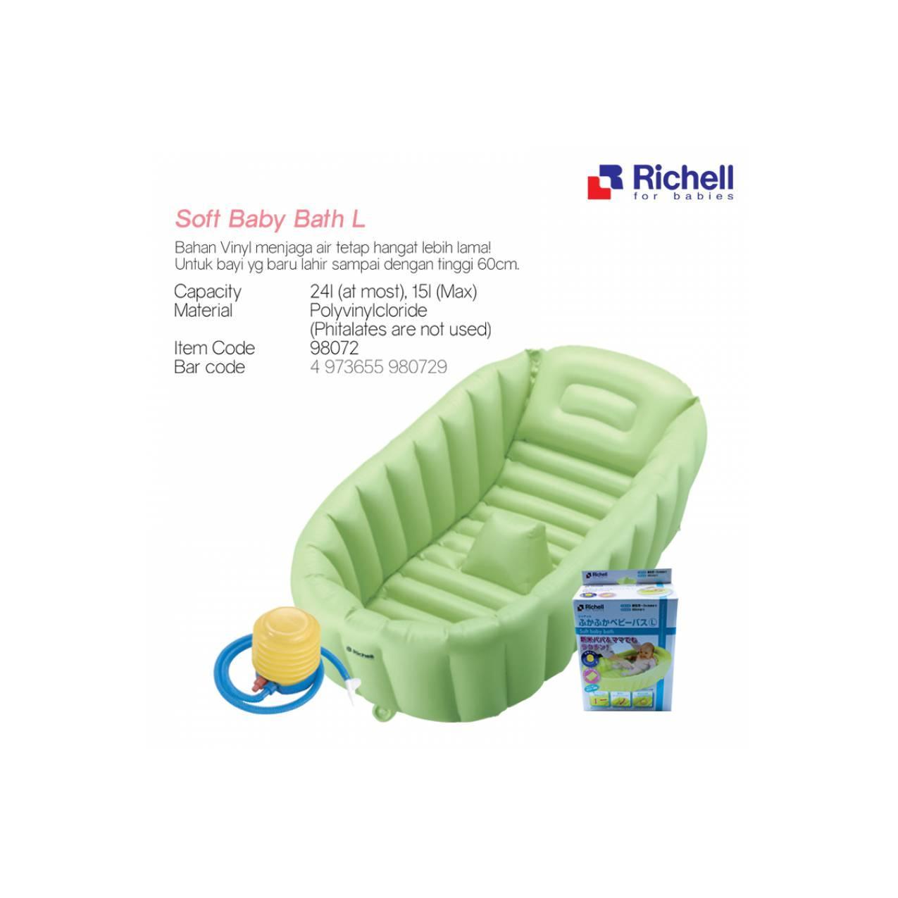 Richell Bak Mandi Bayi Soft Baby Bath L Tidak Licin Dan Original Tempat Shinpo Paradise 601 Inflatable Tub Kolam Portable