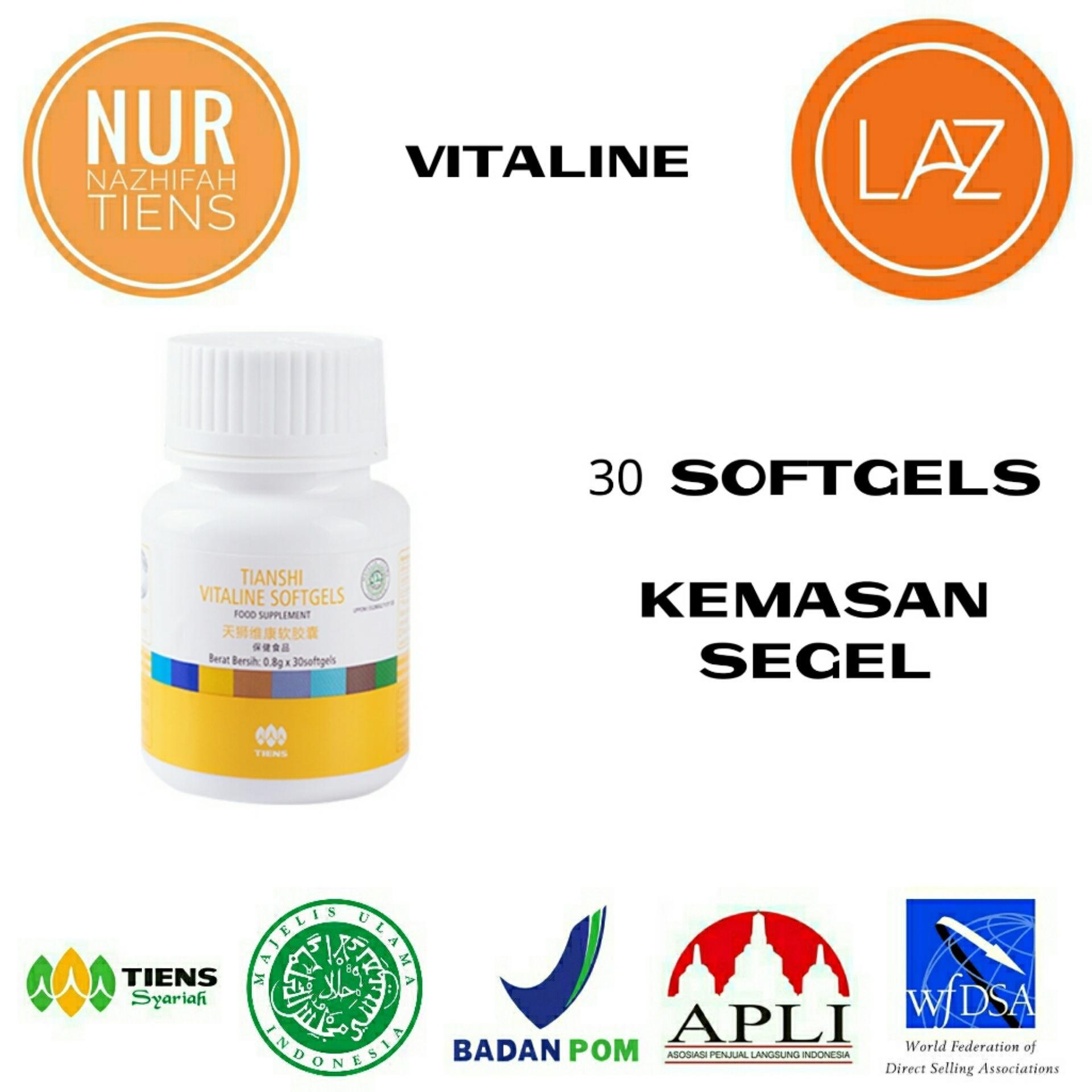 NN Tiens Vitaline Serum Pemutih Wajah & Nutrisi Pemutih Kulit Seluruh Tubuh Herbal Alami - Promo 30 Softgels