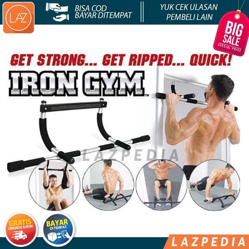 Laz COD - Iron Gym Alat Fitnes Pull Up Alat Olahraga Angkat Badan Praktis dan Mudah Dirakit / Silver - Lazpedia A539