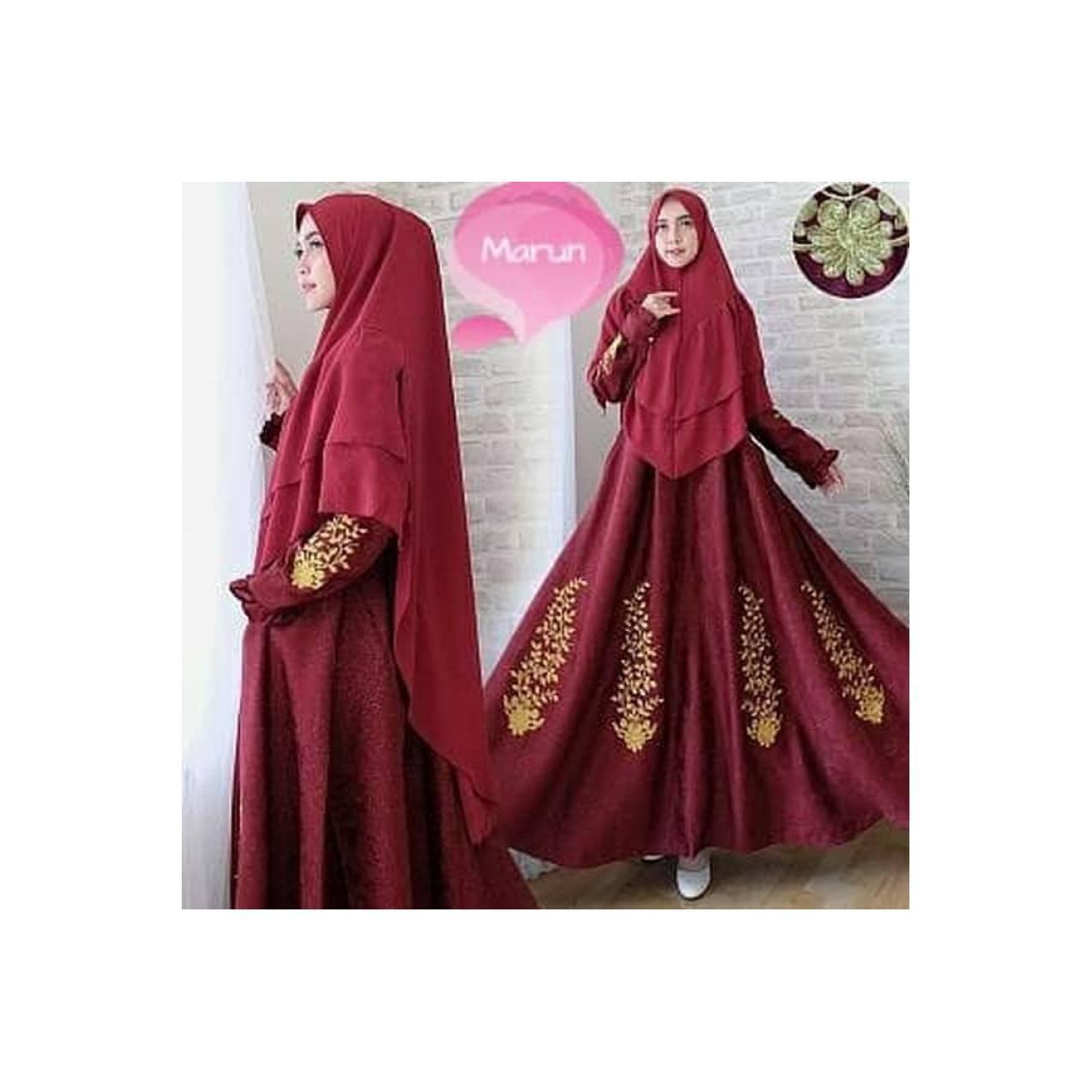 Best baju muslim syari eli gaun pesta jumbo xxl mewah hijab gamis