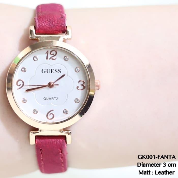 Jam tangan guess kulit fashion gliter casual formal watch grosir rolex HOT