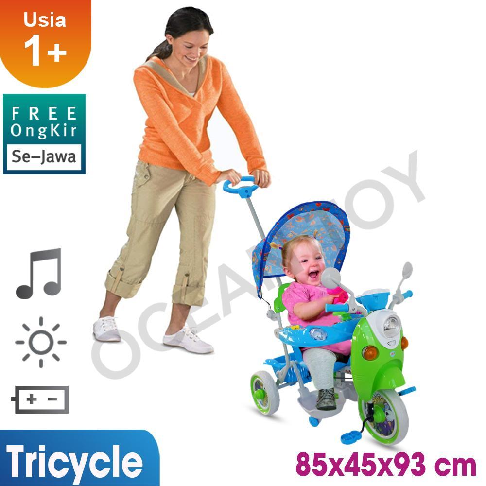 Sepeda Roda Tiga / Tricycle / Gratis Ongkir Khusus Jawa / Sepeda Roda Tiga Anak / Sepeda Anak Cowok Cewek / Sepeda Mainan Anak T06 By Ocean Toy.
