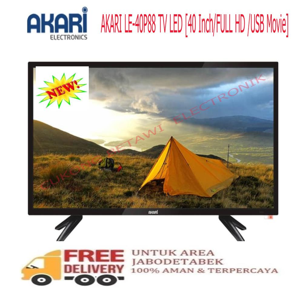 AKARI LE 40P88 - LED TV 40 INC - FULL HD USB MOVIE-KHUSUS JABODETABEK