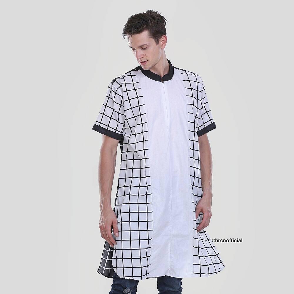 Hrcn Busana Muslim Pria Baju Koko Kemeja Casual H 1021 Kaos Distro 0150 Kurta Warna Putih Original 1107