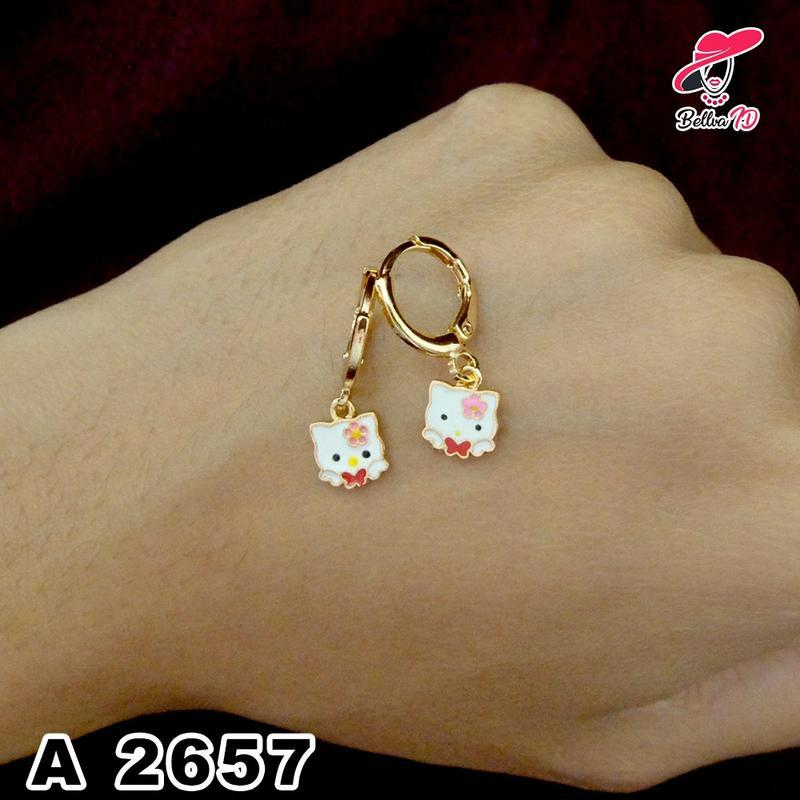 Perhiasan Anting Anak Hello Kitty Lucu Lapis Emas A 2657