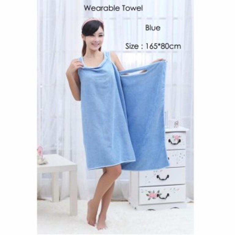 Wearable Towel / Jubah Baju Handuk Multifungsi