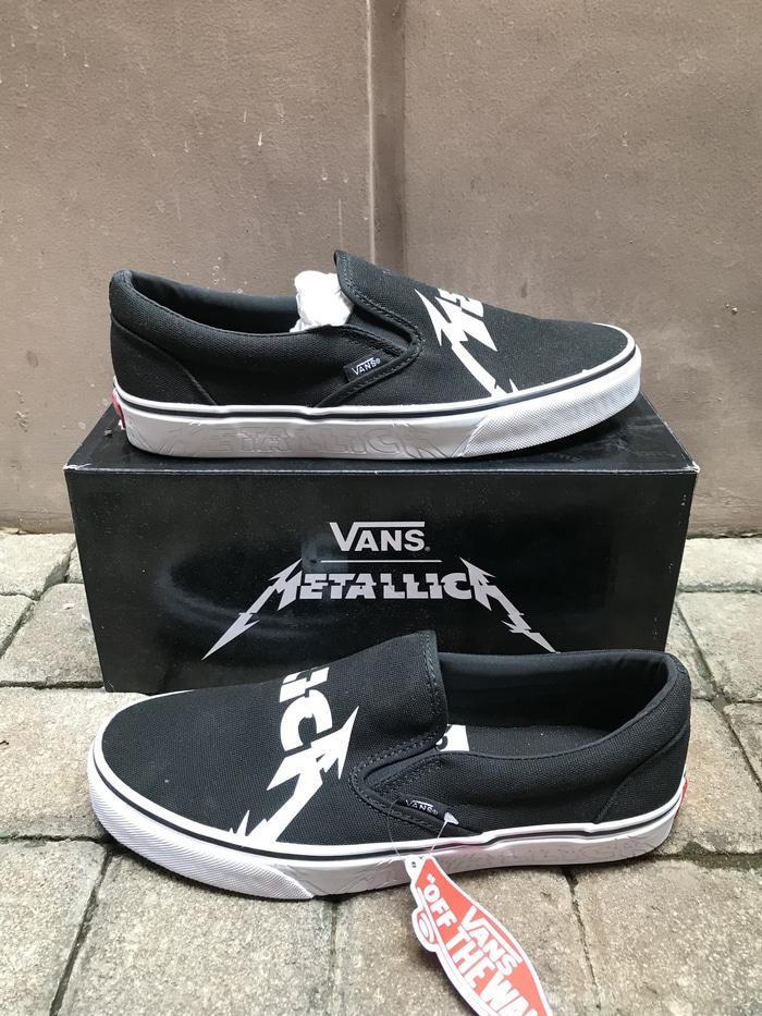 HOT SPESIAL!!! Vans x Metallica Classic Slip On LEGIT ORI - eNGTsN