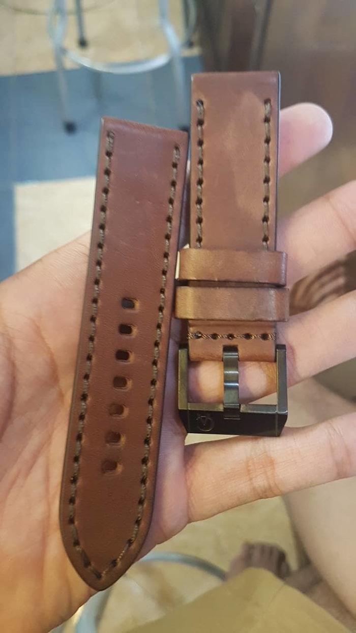Buy Sell Cheapest Expedition Pria D40h800e6653slvrmrh Best Quality E6700m Black Brown Original Leather Tali Strap Kulit Asli Alexnder Cristie 24mm Ready Stock