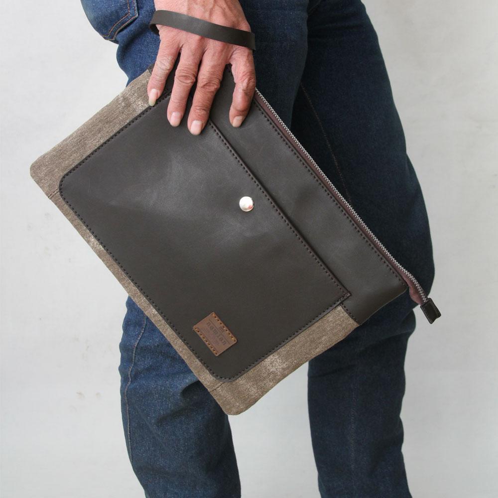 Clutch Bag Tas Tangan Handbag Ipad Tablet Case Original Attar - Coklat