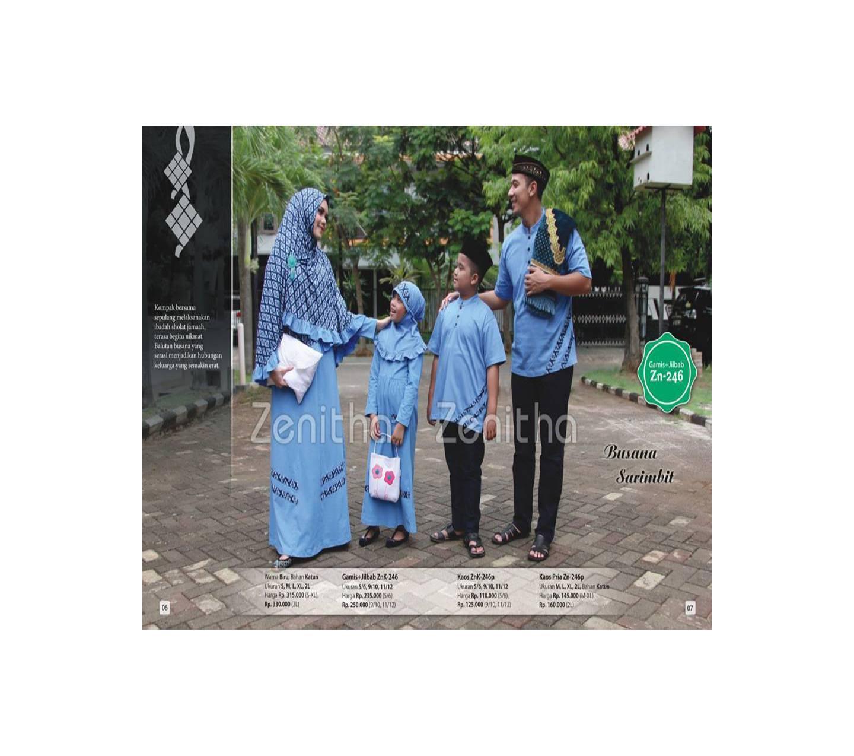 Zenitha Zn-246/Busana Muslim Keluarga/Busana muslim couple,sarimbit